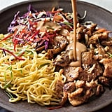 Satay Chicken Noodle Salad With Peanut Butter Dressing