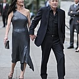 Catherine Zeta-Jones and Michael Douglas arrived at the Vanity Fair Party at the 2012 Tribeca Film Festival.