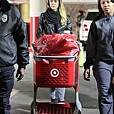 Jessica Alba rolled her cart out of Target.