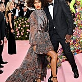 Megalyn Echikunwoke and Chris Rock at the 2019 Met Gala
