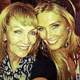 Delta Goodrem took in some Olympic events with her mother, Lea. Source: Instagram user deltagoodrem