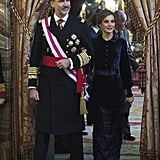 Letizia in Felipe Varela, January 2018
