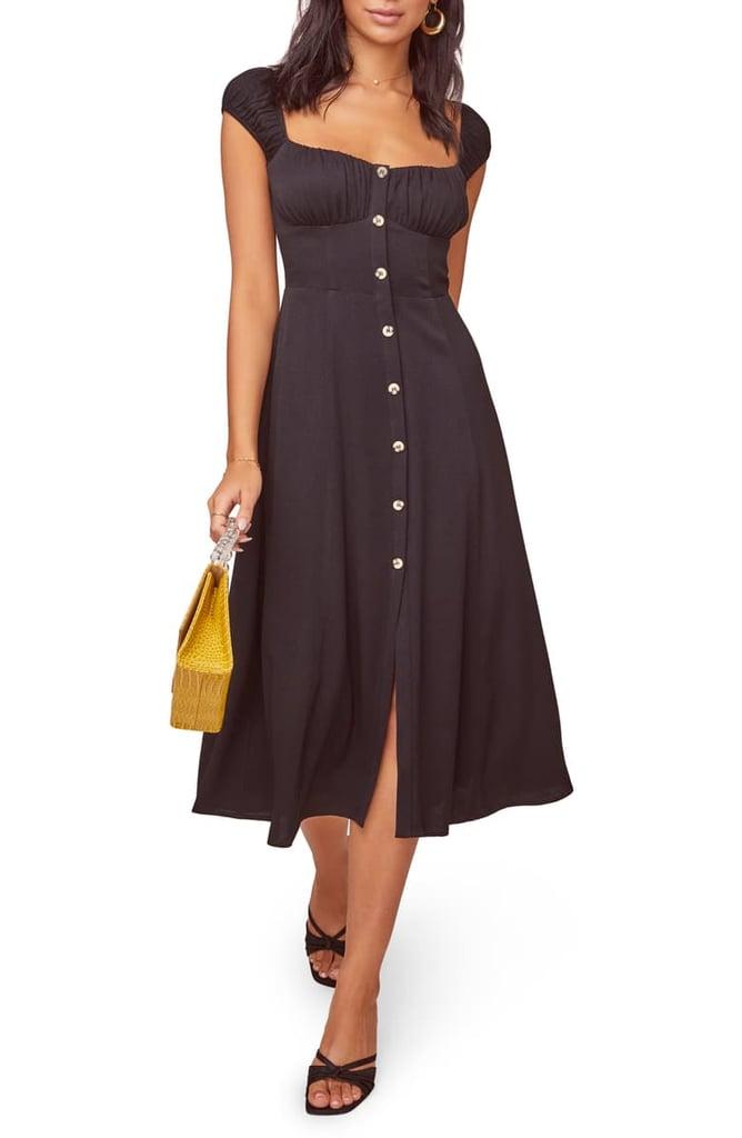 Astr the Label Bonjour Button-Front Dress
