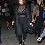 Ashley Graham Sheer Top at Addition Elle Launch