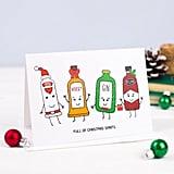 Christmas Spirits Funny Christmas Card