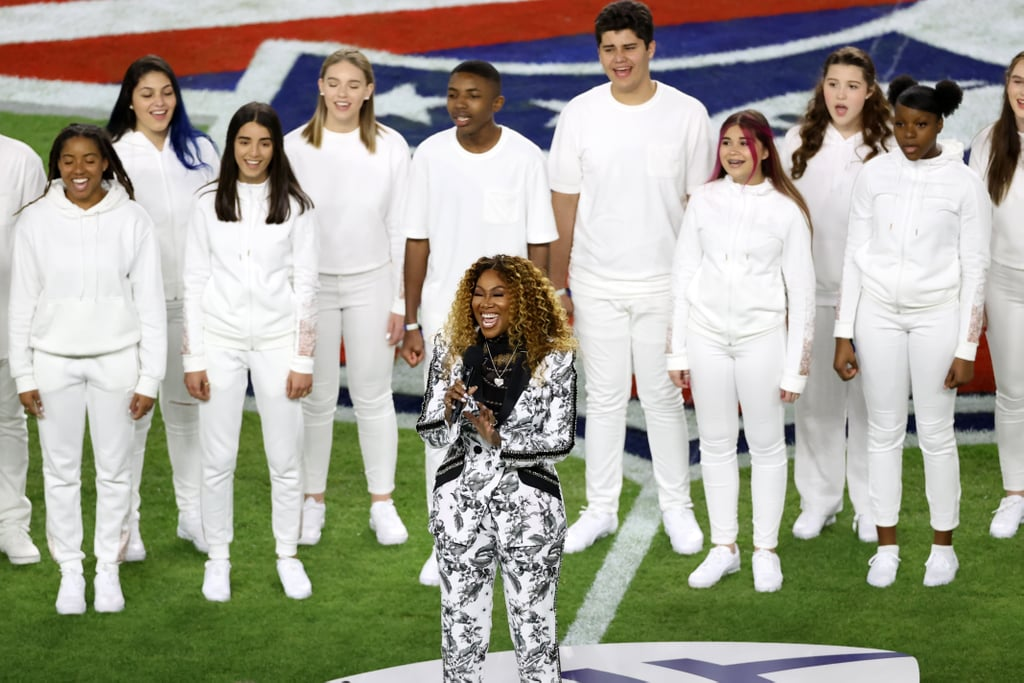 "Yolanda Adams blessed all of Miami with an ethereal performance of ""America the Beautiful"" during the 2020 Super Bowl on Feb. 2. The gospel singer donned an angelic black-and-white suit while leading the Children's Chorus of Miami in their performance of the traditional football song. Adams and the chorus were followed by Demi Lovato, who performed the national anthem at the big game.  The 58-year-old Grammy-winner's stadium performance comes a day after she performed with various gospel singers during the 21st annual Super Bowl Gospel Celebration. Keep scrolling to watch Adams and the Children's Chorus of Miami lift the spirits of viewers everywhere with their beautiful performance at Super Bowl 54!      Related:                                                                                                           Demi Lovato Just Conquered the Demanding Gig of Super Bowl National Anthem Performer"