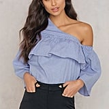 Lucca Couture Adeline One Shoulder Ruffle Top