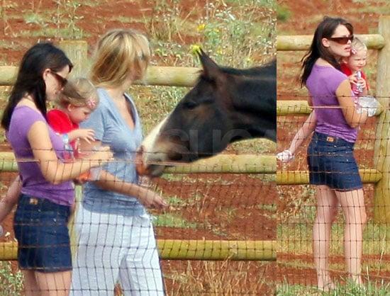 Jen & Violet Horsing Around in Hawaii