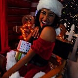 Naya Rivera looked like she was ready to be Santa's Little Helper. Source: Instagram user nayarivera