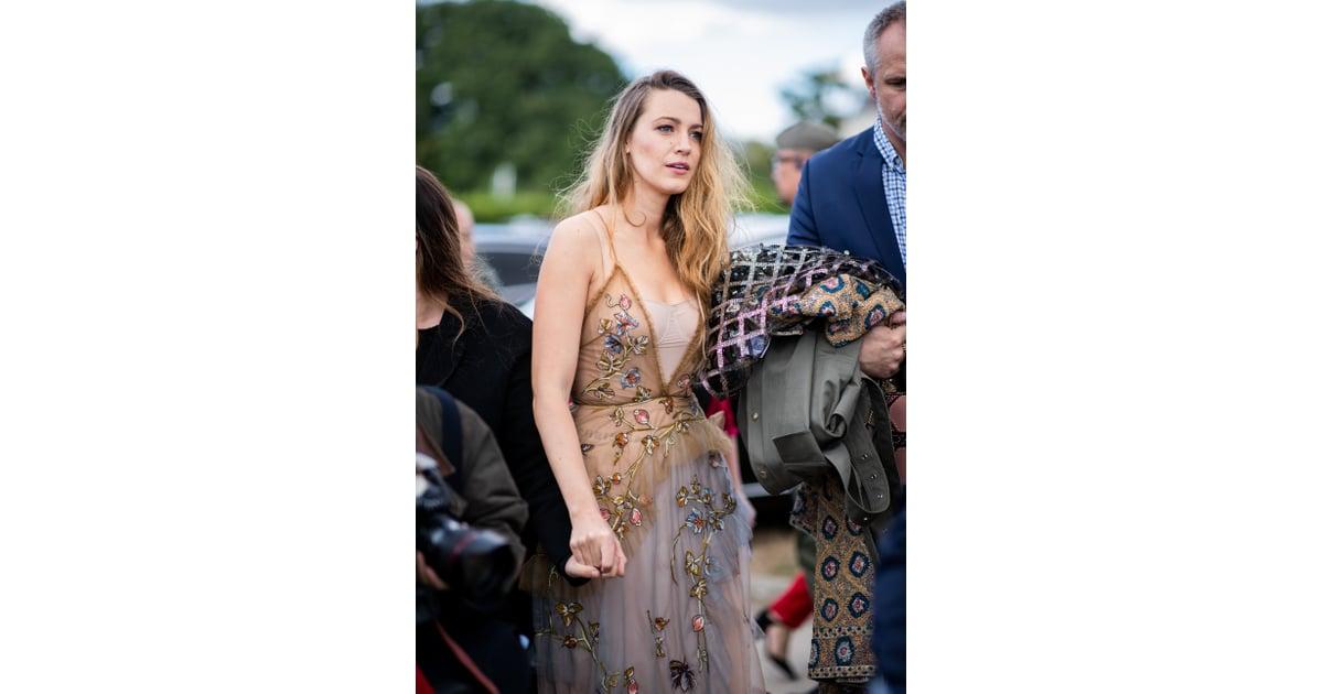 Blake Lively's Dior Dress at Paris Fashion Week 2018 ...