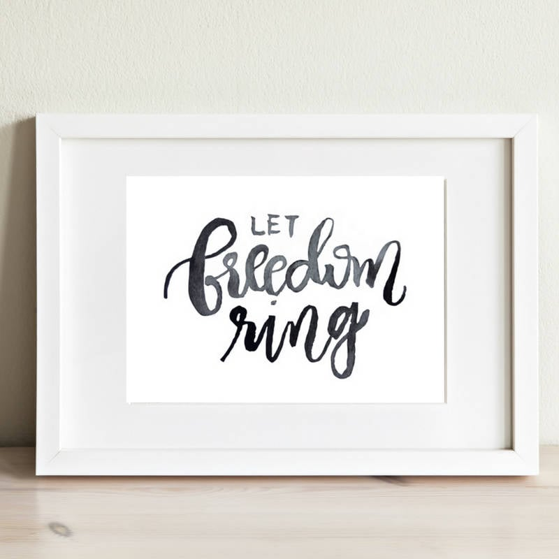 Let Freedom Ring print