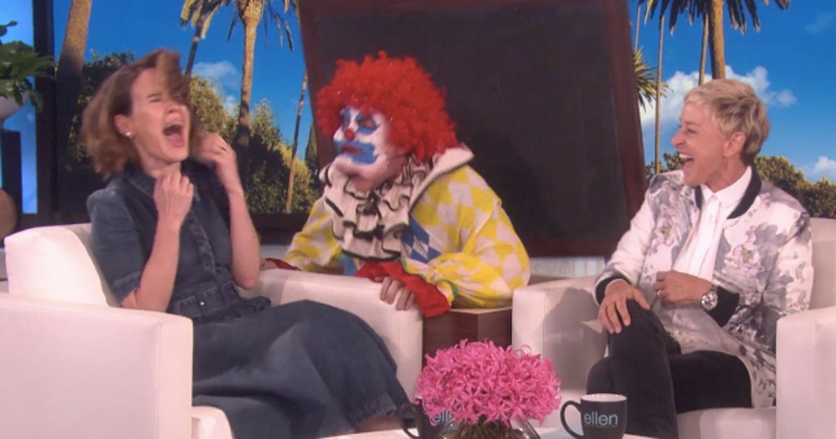 Ellen DeGeneres Uses a Clown to Scare the Sh*t Out of Sarah Paulson