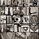 Found objects alphabet.