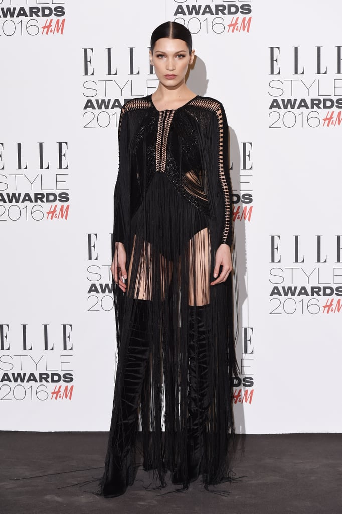 Bella Hadid's Outfit at the Elle Style Awards 2016