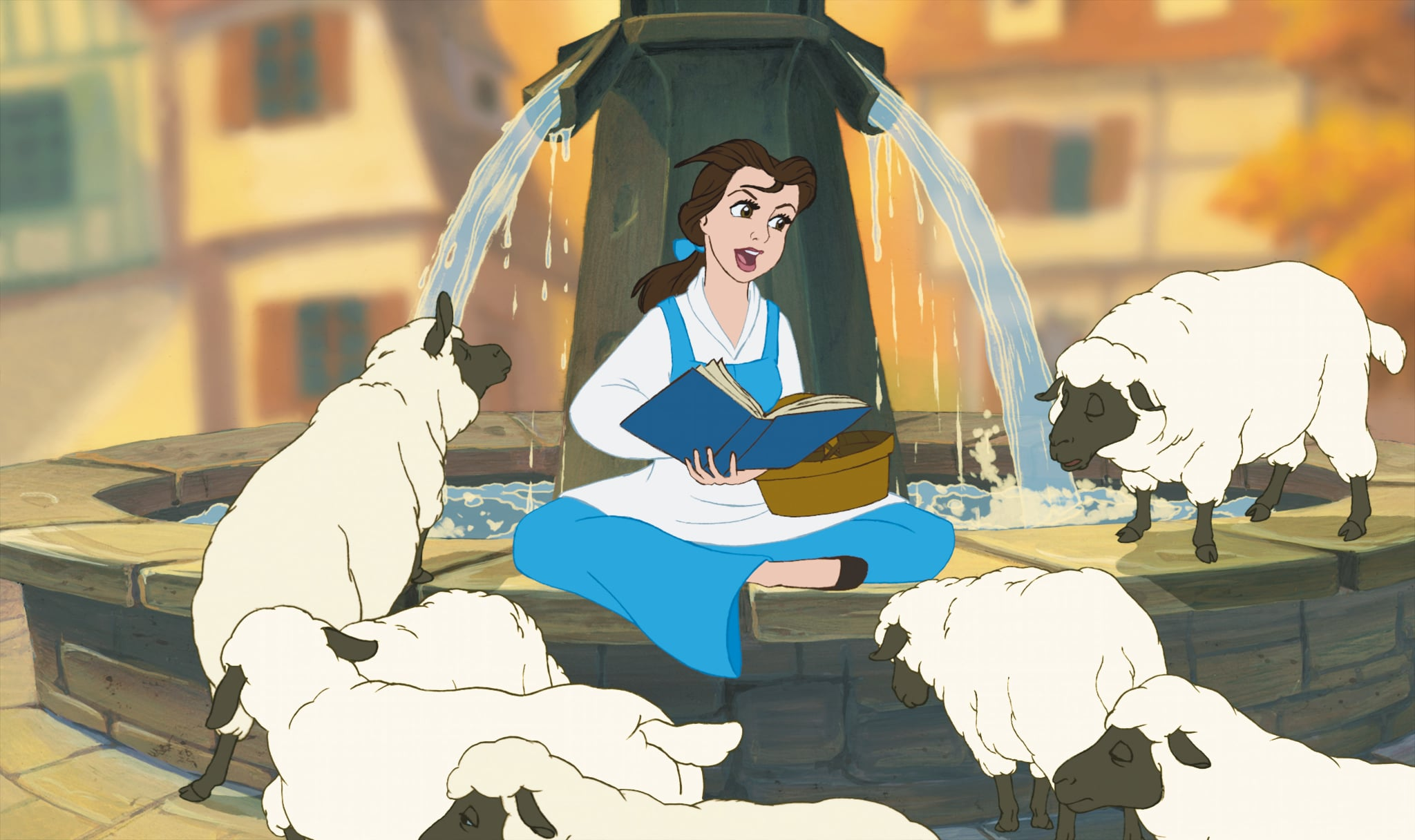 BEAUTY AND THE BEAST, Belle (voice: Paige O'Hara) in 2012 3D re-release, 1991, Walt Disney Pictures/courtesy Everett Collection