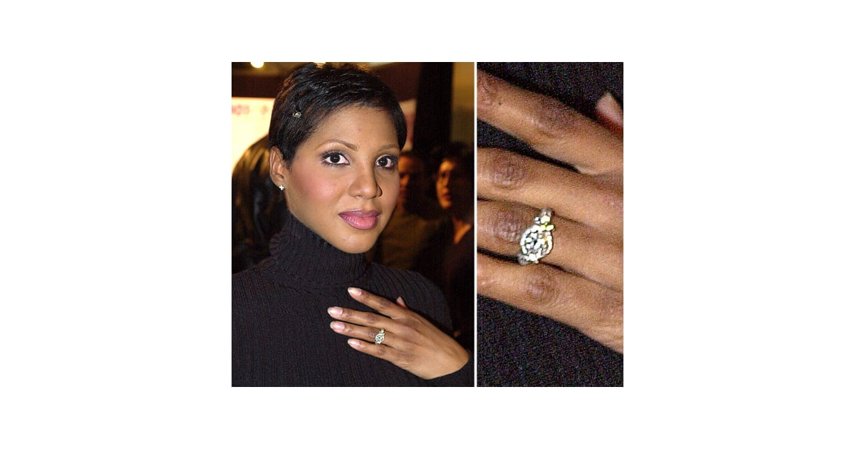 toni braxton celebrity engagement ring pictures