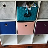 I utilized a cubby system to organize the school paper onslaught.