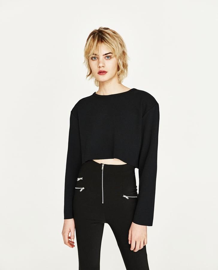 Zara cropped t shirt how to dress like rachel green from for Zara black t shirt dress