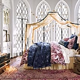 Gold Glitter Canopy ($129) and Magical Velvet Quilt and Sham ($36 - $249)