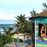Finding inspiration on an island off the coast of Nassau, Bahamas.