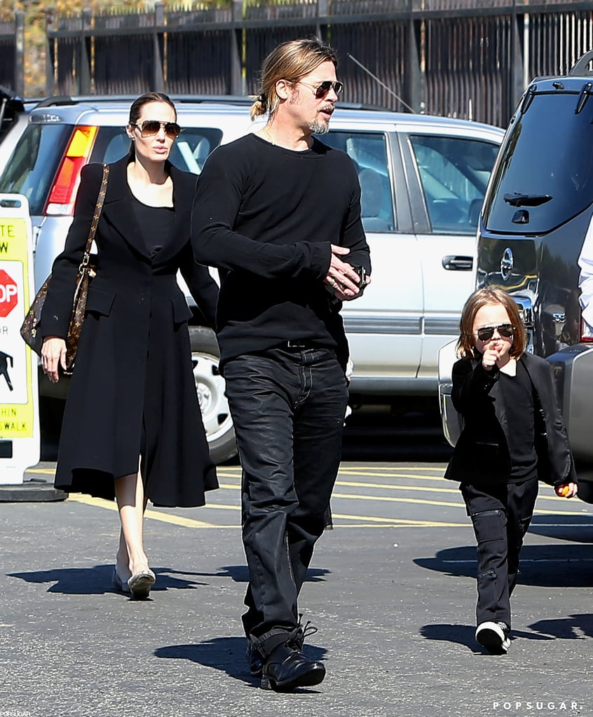 Brad Pitt and Angelina Jolie took Knox and Vivienne to the Natural History Museum for Valentine's Day in LA.