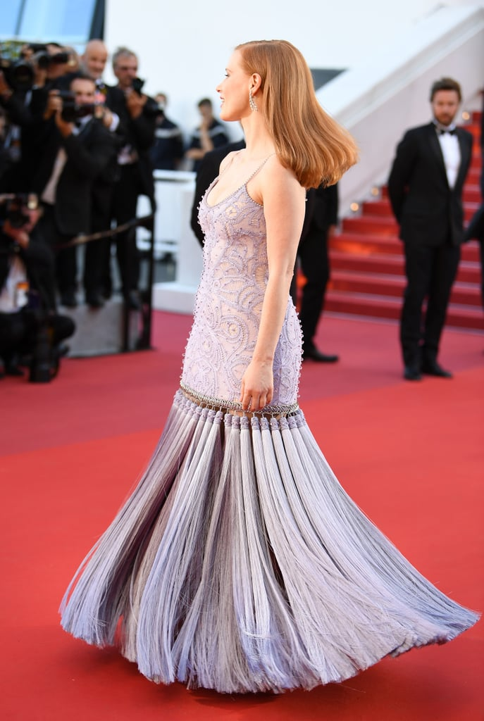 The Tassels on Jessica Chastain's Custom Givenchy Haute Couture Gown