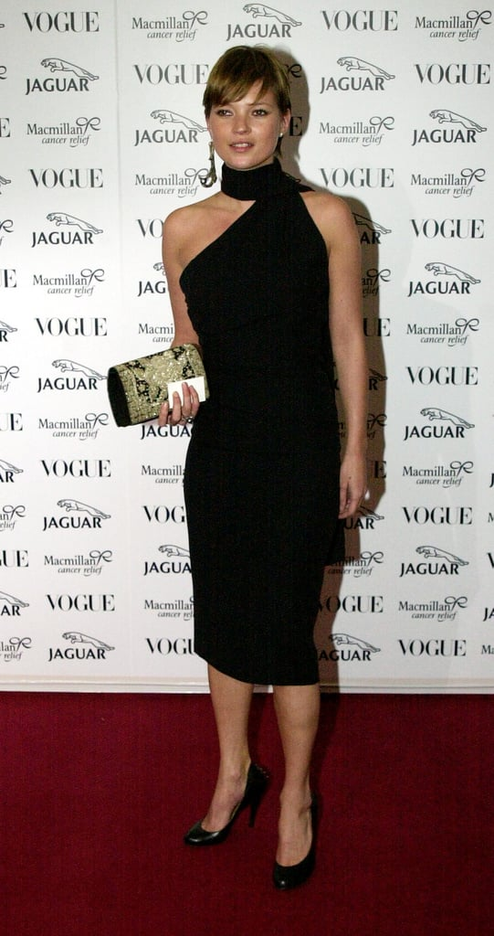 A younger Kate Moss at the It's Fashion Gala Benefit in a classic cut-out dress.