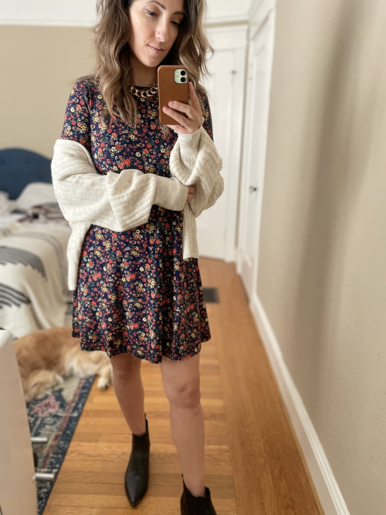 Floral-Print Jersey-Knit Swing Dress