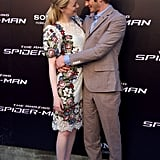Emma Stone and Andrew Garfield play a couple on the big screen in The Amazing Spider-Man, and during their international press tour, the pair's off-screen relationship appeared to be very real.