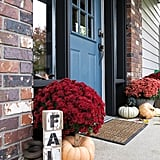 Porch With Pumpkins and Mums