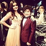 Ariel Winter posed with her onscreen brother. Source: Instagram user arielwinter