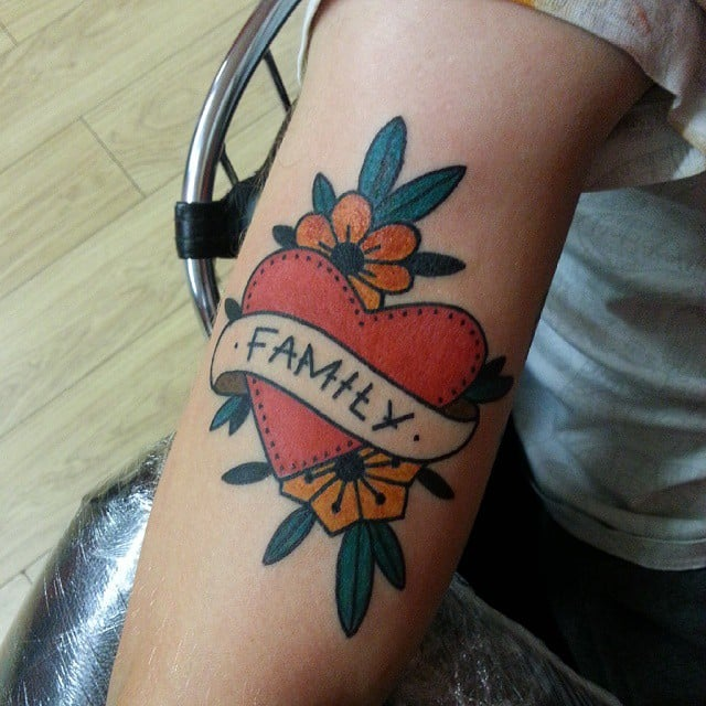 Family And Flowers Heart Tattoo Ideas Popsugar Australia Love