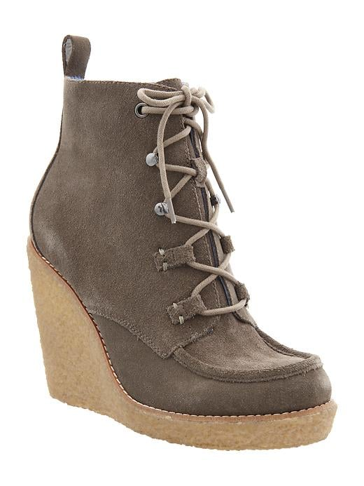 A gum sole is one of the most functional of Winter boots — these Gap wedges ($90) are ideal for making your way through the Winter elements, stylishly and for under $100, I might add. — HW