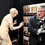 When She Looked at the Golden Statuettes the Way We Look at Handbags