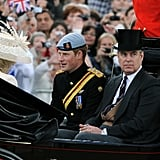 Pictured: Prince Harry and Prince Andrew.