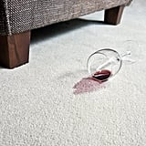 Red Wine Stains in Carpet
