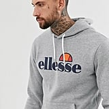 Ellesse Gottero Hoodie With Classic Logo in Gray