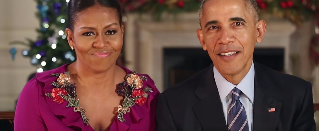 You Only Need to See the Top of Michelle Obama's Dress to Know It's a Holiday Miracle