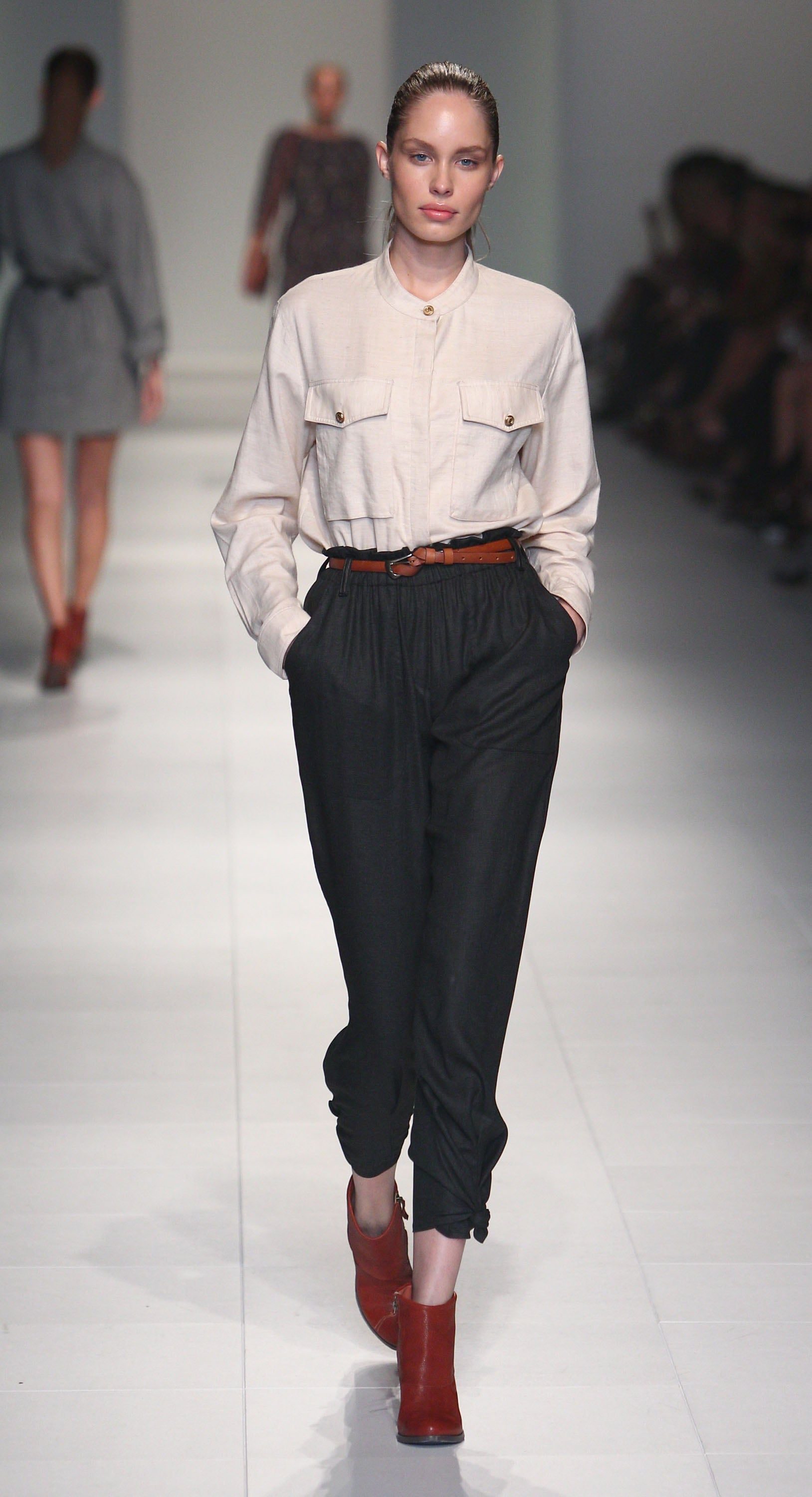 Laurence Pasquier's chic shirting got our attention.