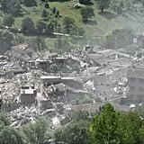 Damage from Pescara del Tronto