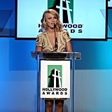Julianne Hough took to the mic at the 2011 Hollywood Film Awards.