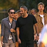 Jamie Hince hung out with friends and Kate Moss in Saint-Tropez.