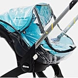 Rain Cover Most strollers have plenty of overhead coverage to protect baby from the elements, but because the Doona is a car seat first, the included canopy only really covers the infant's head from directly above. Any more substantial built-in coverage has to be added on.