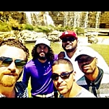 Wilmer Valderrama spent a Summer day golfing with friends.  Source: Instagram user wilmervalderrama