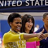Michelle gives a thumb up.