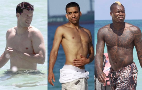 Photos of Shirtless Premier League Footballers Michael Ballack, Aaron Lennon, Djibril Cisse on Holiday