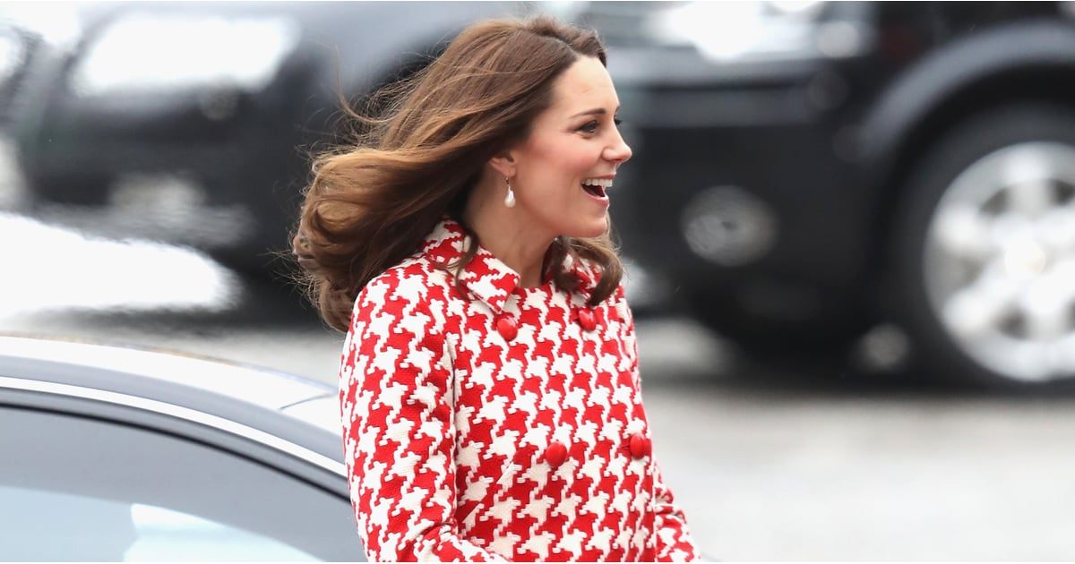 The Duchess of Cambridge's Houndstooth Coat Is Here to Brighten Your Morning
