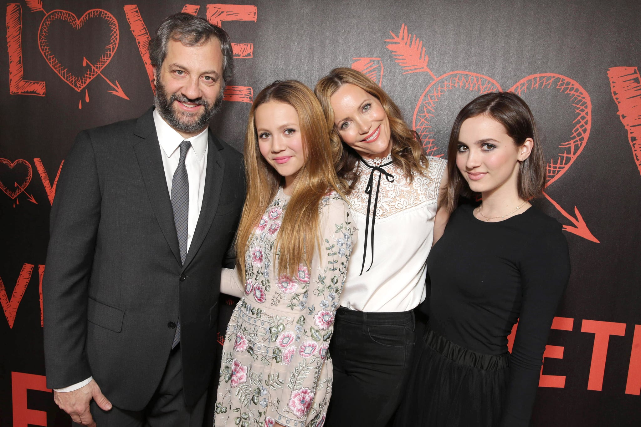Judd Apatow With Leslie Mann and Daughters at Love Premiere ...