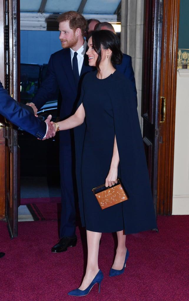 Favorite Meghan Markle Navy Stella McCartney Cape Dress | POPSUGAR Fashion GY75