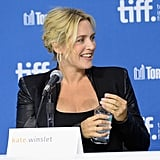 Kate Winslet spoke during the Labor Day press conference.